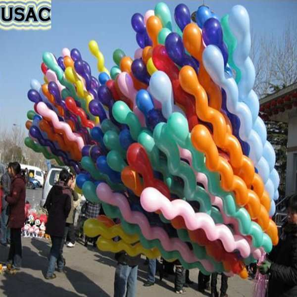 Cheap Rubber Helium Spiral Latex Balloon Happy Birthday Decoration