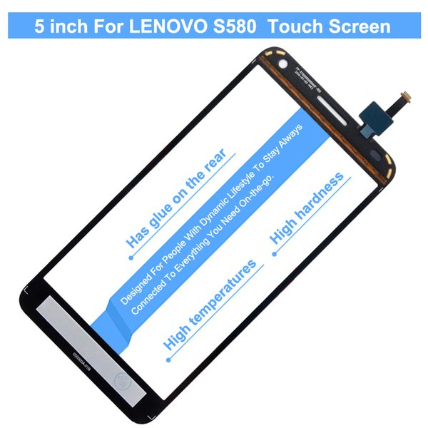 Wholesale-Vivian Free Shipping Black and White New 5 inch For Lenovo S580 Mobile phone touch screen Handwritten Screen Repair Replacement