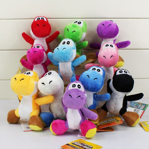 best selling Super Mario Bros Yoshi Plush Anime Keychain 10 colors Plush doll kids gift 10cm Free shipping