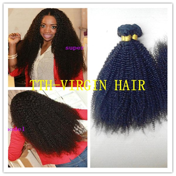 Brazilian Curly Virgin Hair 8A Kinky Curly Virgin Hair 3PCs 8-30inches Human Hair Extension tight Afro Kinky Curly Hair Weave Free Shipping