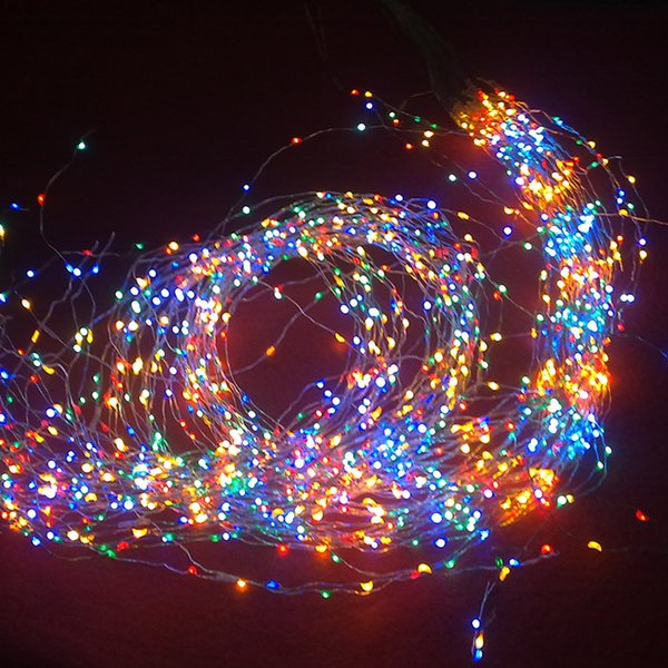 navidad vacaciones luces de iluminacin al aire libre alambre de