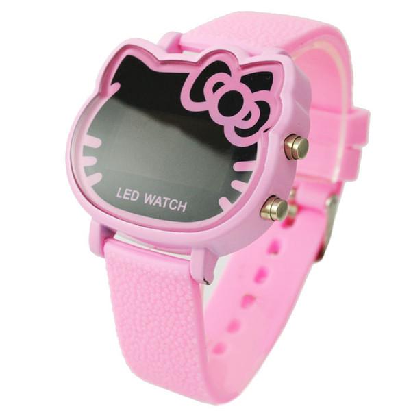 Sale Montre Du Kitty Cute Enfants Jewelry007 Heures Led Rose Acheter Hello Cartoon Watch Montres Filles De5 08 Rubber Numérique Hot Strap n0wm8vN