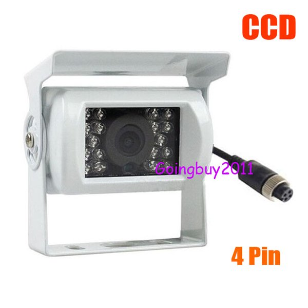 Белый 12V-24V CCD автобус Trailer 18 ИК ночного видения заднего вида автомобиля камера заднего 4Pin Водонепроницаемый 10pcs / серия