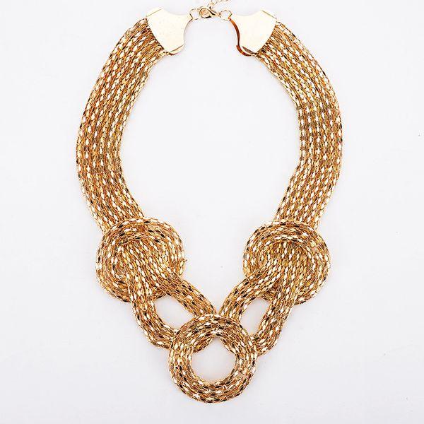 Новое прибытие горячей продажи европейских и американских пр ветра темперамент тенденция ожерелье короткая цепь шить ожерелье