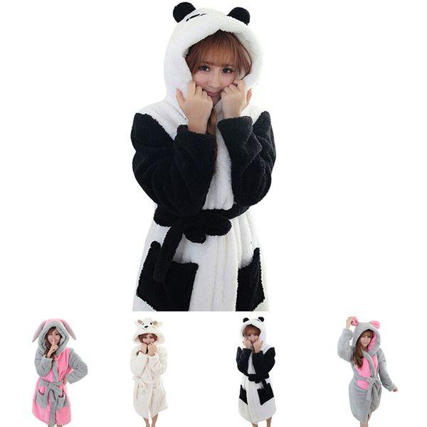 2018 Winter Bathrobe Women Pajamas Bath Robe Sleepwear Womens Robes ...