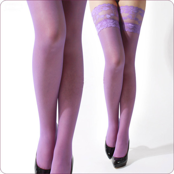 0c09c512cf074 w1025 Hot Sale Thigh High Stockings For Women Purple Lace Sexy Stockings  Meias Compression Stockings