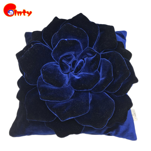 Wholesale- PP Cotton Rose Pillow High Quality Plush Flower Rose Cushion for Chair Seat Throw Cushion Stuffed & Plush Plants Flowers Pillows