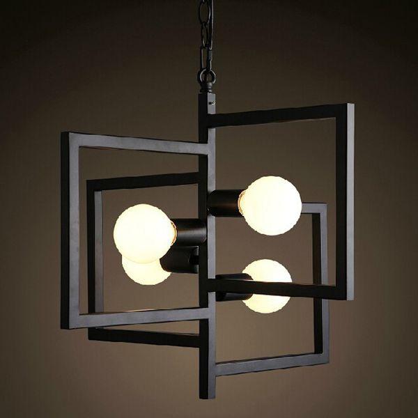 warehouse style lighting. RH LOFT Vintage Chandeliers Lamp Metal Four Windows Pendant Lampshade E27* 4 Bulbs Warehouse Style Lighting