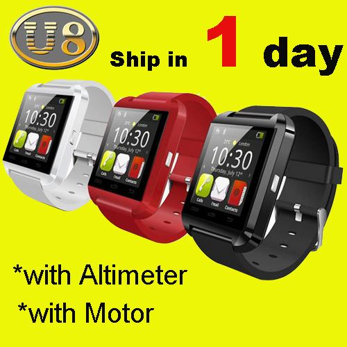 Bluetooth Smartwatch U8 U İzle Akıllı İzle Bilek Saatler iPhone 4 4 S 5 5 S Samsung S4 S5 Not 2 Not 3 HTC Android Telefon Smartpho OTH014