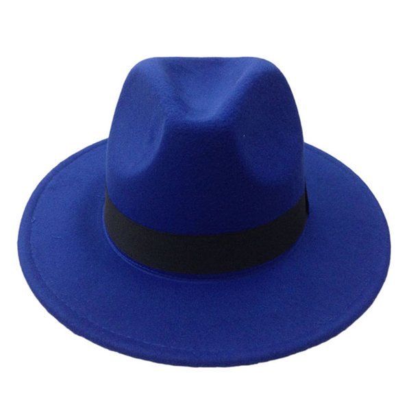 Men's Wool Felt Snap Brim Hat Trilby Women Vintage Wool Panama Fedora Cloche Cap Wool Felt Jazz Hats 13 colors