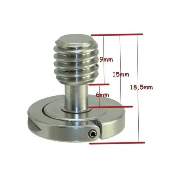 """FITTEST DRS-07 3/8"""" Precision made Stainless Steel D-Ring Screw for Camera Tripod and QR Plate"""