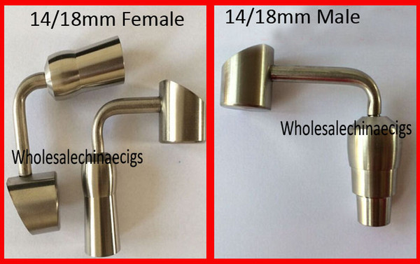 titanium nail honey buckets bubbler banger 90 degree titanium nail female male nail domeless Joint nail 14mm&18mm ceramic nail quartz nail