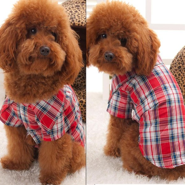 Dog Clothes Cachorro Pet Clothes Mascotas Puppy Ropa Mascotas Pet T-Shirt Clothing Cat KApparel Red Size S M L XL L008