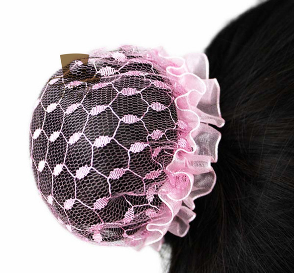 Girls Hair Bun Cover Snood Hair Net Ballet Dance Skating Women Hairnets Fashion headbands Children Solid Headwear Hs -01