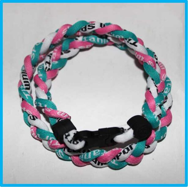 cheap factory wholesale titanium necklace 3 rope necklace with different styles and colors DHL Free shipping