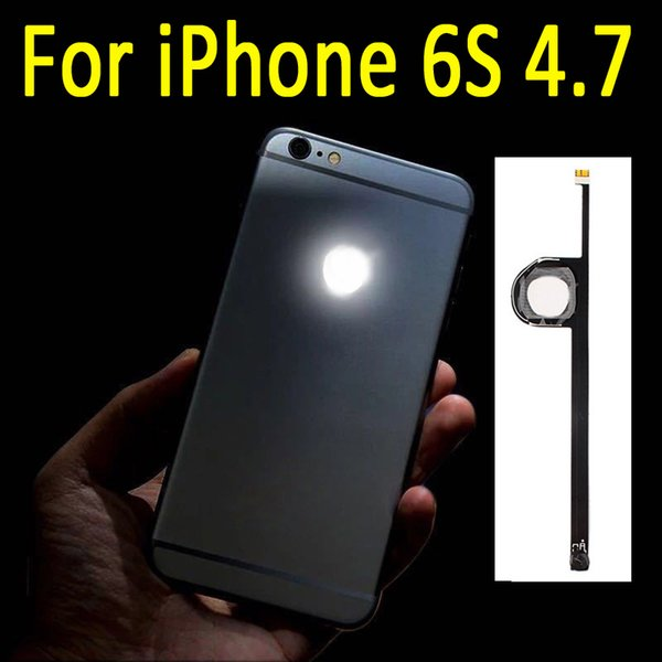 New LED Shine Night Glow Light Up Logo Replacement MOD For iPhone 6S 4.7 inch DHL Free Shipping