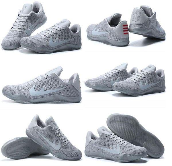 new style d916f bbd4e Cheap Kobe Xi Elite High Low Basketball Shoes Men Elite Low 4kb Pale Horse  824463 443 White Gray Kobe 11 Sport Kids Shoes Comfortable Shoes Discount  ...