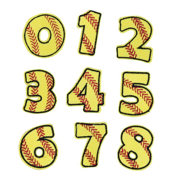 Number Combination Patches for Kids Clothing Bags Iron on Transfer Applique Patch for Jeans DIY Sew on Embroidery Badge 10PCS