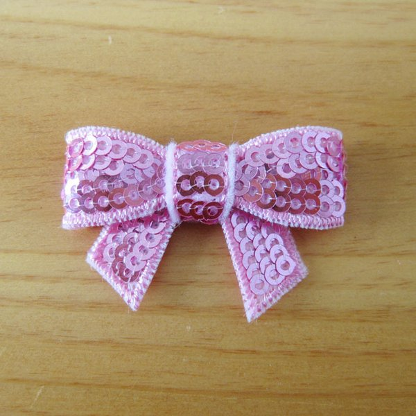 Bowknot Embroidery sequins Bows hair Bow tie bow hairband kids Hair Accessories without clip 19 colors the best christmas gift D667J