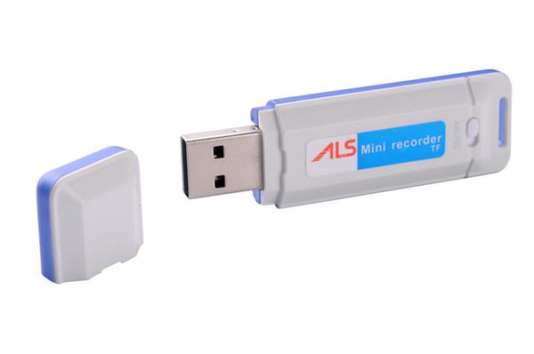 Mini disque audio Enregistreur vocal K1 Clé USB à mémoire flash Dictaphone Pen prenant en charge jusqu'à 32 Go de noir et blanc dans le commerce de détail dropshipping