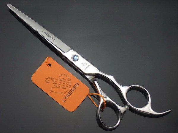 LYREBIRD 7 ZOLL Haarschneide Schere Silbrig Scheren Salon Friseurschere blau Stein Einfache Verpackung NEU