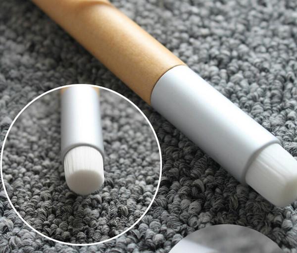Makeup Nasal Wash Brush Cleansing Brushes Flat Black Nose Fiber Batt Short Wooden Handle 113mm Hair Length 8mm Beauty Tools Accessories