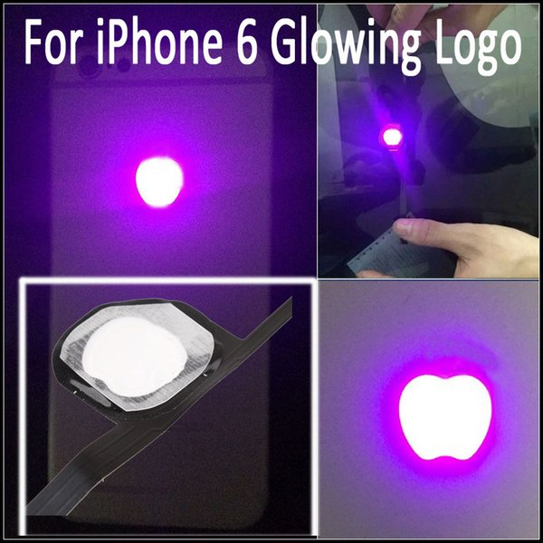 LED Intelligent Night Cool Light Glow Shine Logo For iPhone 6 Glowing Logo Mod Kit Replacement Free Shipping