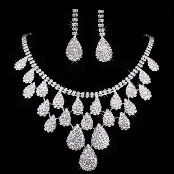 Wedding Jewelry Sets Silver Artificial Pearl Rhinestone Crystal