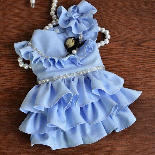 2015 Fashion Elegant&Luxury Dog Clothes Dog Wedding Dress Multi ...