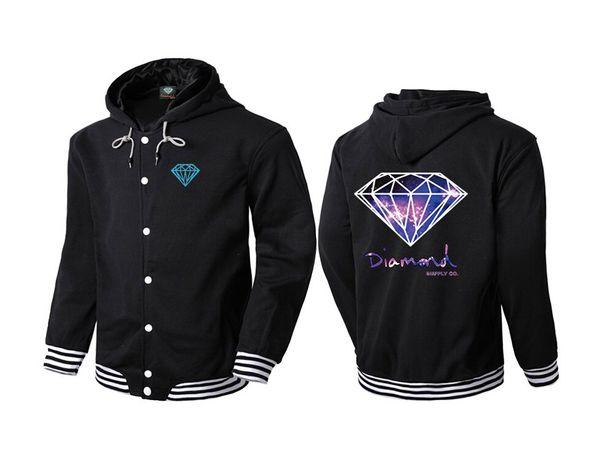 Diamond Supply hoodie for men free shipping diamonds hoodies hip hop hoody brand new 2016 sweatshirt men's clothes pullover