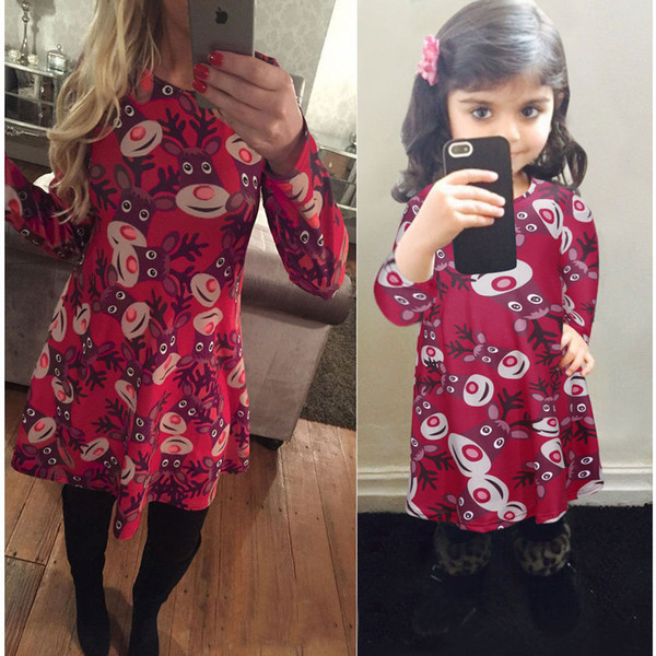 Matching Mother and Daughter Clothes Christmas Dresses Matching Family Outfits Family Christmas Pajamas Women Dresses Girls Dresses 8 Colors