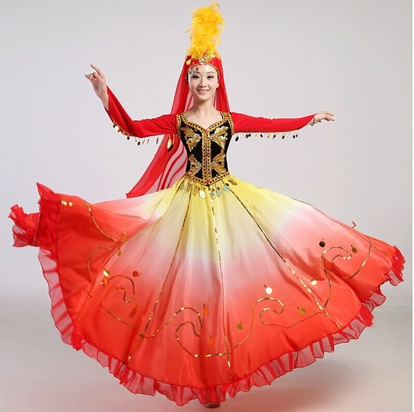 best selling New Xinjiang dance clothes costumes costumes Uighur ethnic clothing clothing