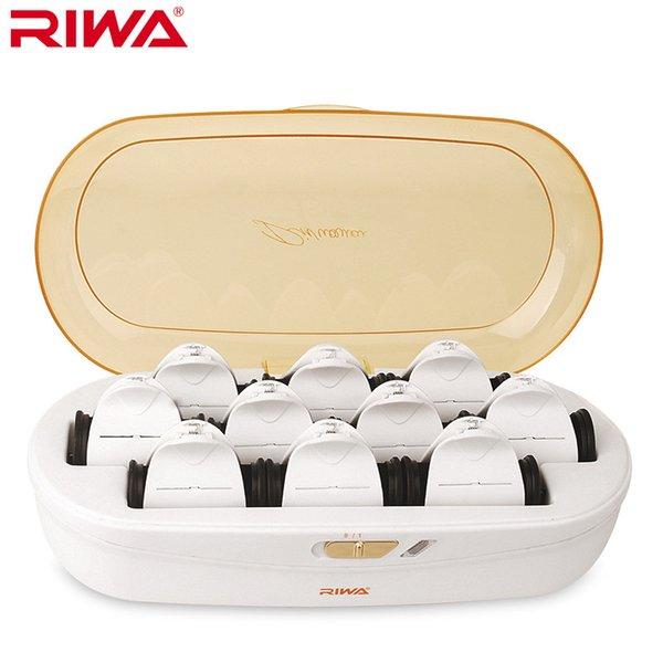 Riwa Heated Hair Roller Clips Constant Temperature Not Hurt Hair Low Temperature Hair Styling Curling Irons Rapid Heating 220v