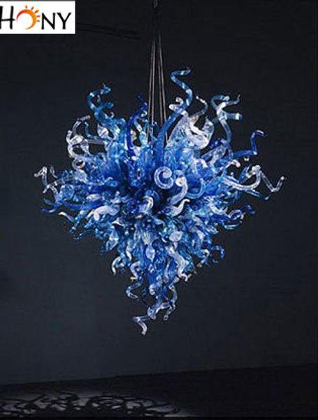 Free Shipping Modern Blue House Italian Design Modern Murano Glass Chandelier Lighting