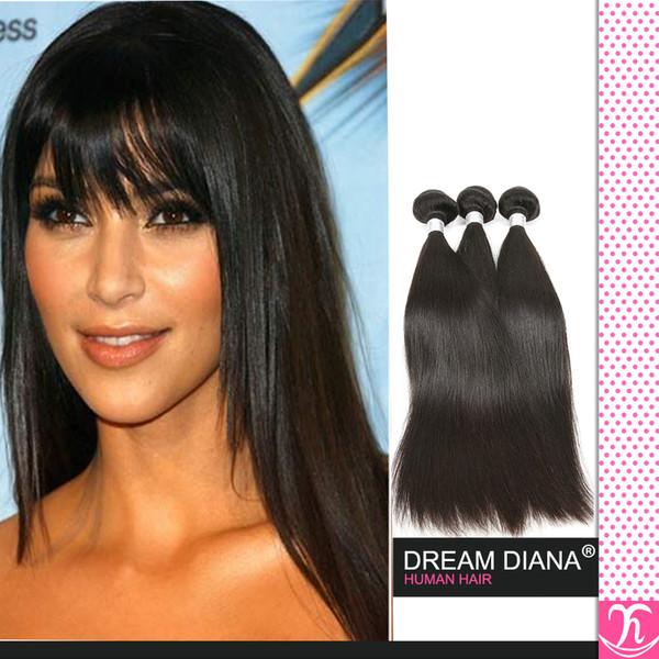 Brasilianisches Reines Haar Gerade Unverarbeitete 4 teil / los 1b Alimice Brasilianische Haarwebart Remy Haarverlängerungen Großhandel binhuihumanhair