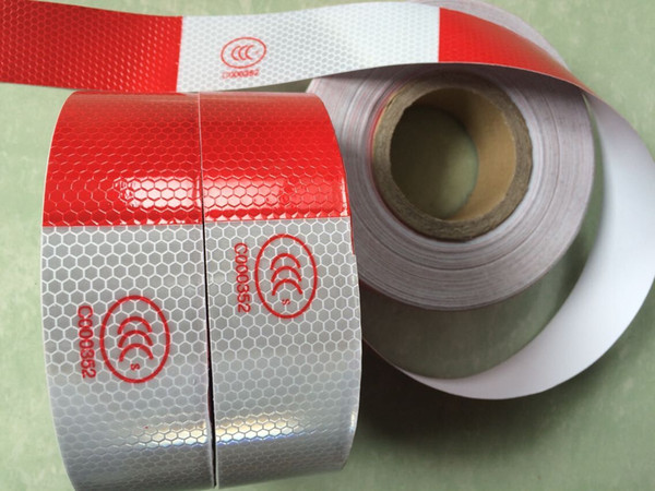 best selling High visibility truck car motorcycle van traffic signal reflective sticker tape white and red reflective warning tape