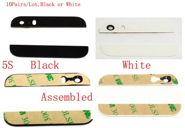 100% High Quality for iPhone 5 5S SE Top Bottom Rear Back Cover Glass & camera Lens & Flash Diffuser With Sticker Assembled (411IP)