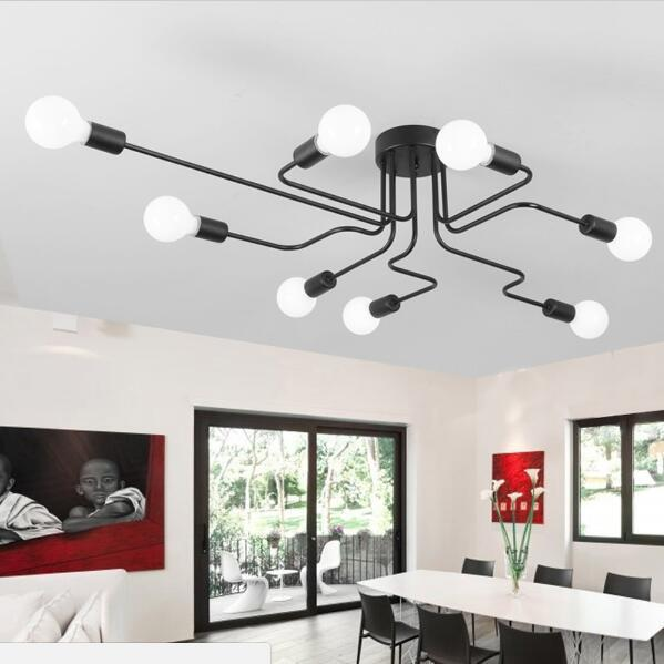 Ceiling Lights Ceiling Lights & Fans Vintage Ceiling Light Iron Multiple Rod Creative Retro Personality Luminaria Industrial Led Home Lighting Fixture Ceiling Lamp