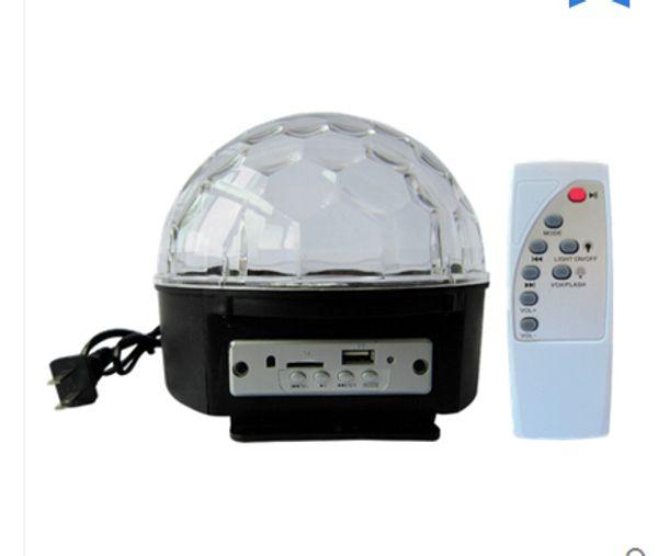 9 color bluetooth MP3 flash laser crystal magic ball led lighting KTV bar seven lights radium shoots the light