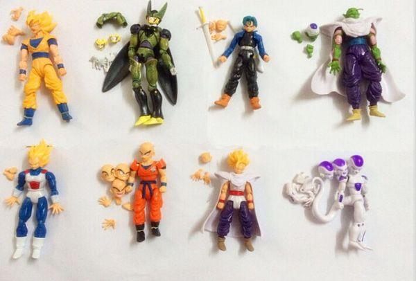 Chaude Amine Dragon Ball Z 12-14 cm Freeza Piccolo Végéta Troncs Son Gohan Kuririn 8 pcs / ensemble PVC Figurines