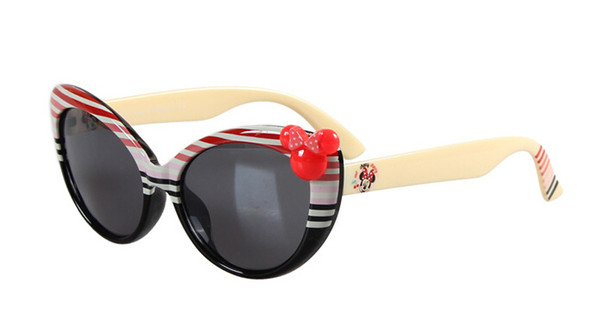 MOQ=5PCS brand new summer kid girls mouse sunglasses Children's uv sunglasses girl Sun glassesbaby sunblock drop shipping