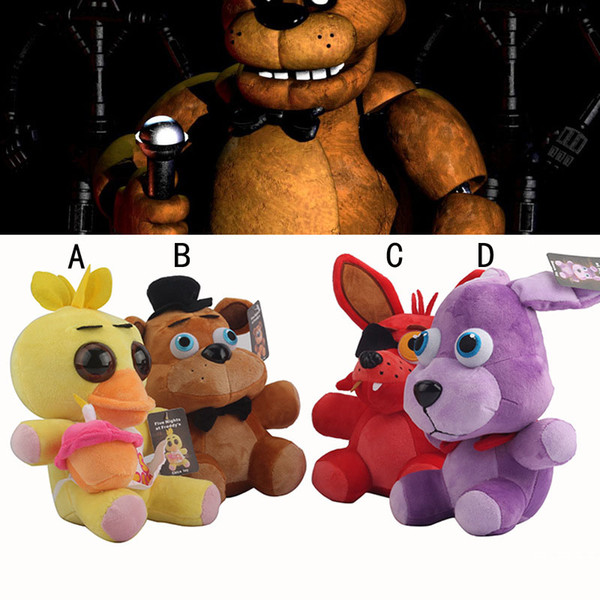 top popular EMS Five Nights At Freddy's Plush Toys 18cm Freddy's bear Plush Toy Doll Five Nights at Freddy's Bear stuffed toys B001 2019