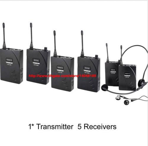 top popular Takstar UHF-938  UHF 938 UHF frequency Wireless Tour Guide System 50m Operating Range 1Transmitter+5 Receivers use for Tour guiding 2021