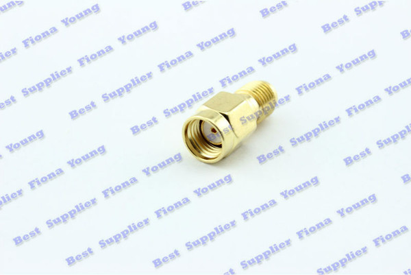 50 pcs\lot Wholesale RF Connector Goldplated RP SMA Male Plug to SMA Female Jack Straight Adapter Free Shipping
