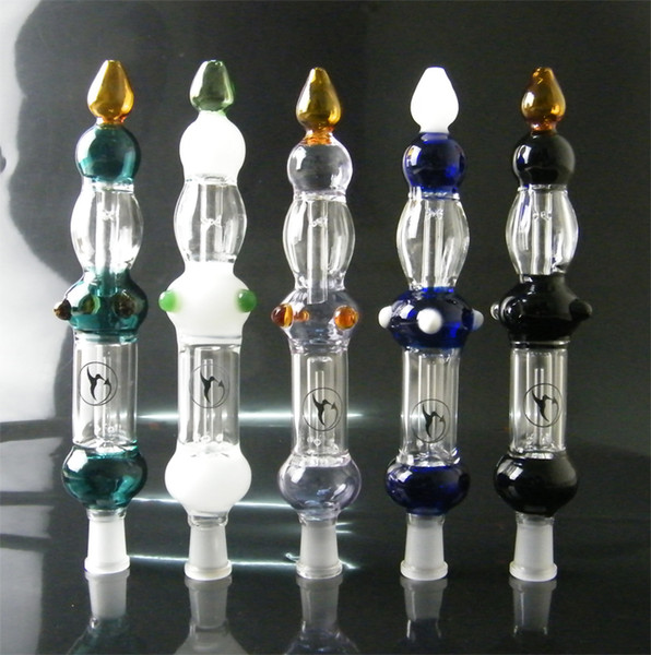White/Blue/Black/Purple/Green Nectar collector 14mm High Quality Concentrate Honey Dab Straw for Mini Glass Bong