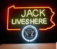 "Hot Jack Lives Here Neon Sign Commercial Handmade custom Real Glass Tube Beer Bar Pub Club Store Advertising Display Decoration Neon 17""X14"""