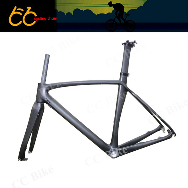 T700 Full Carbon Disc Brake Frame Full Carbon Bicycle Frame 700C Road Bike  Frame With Front