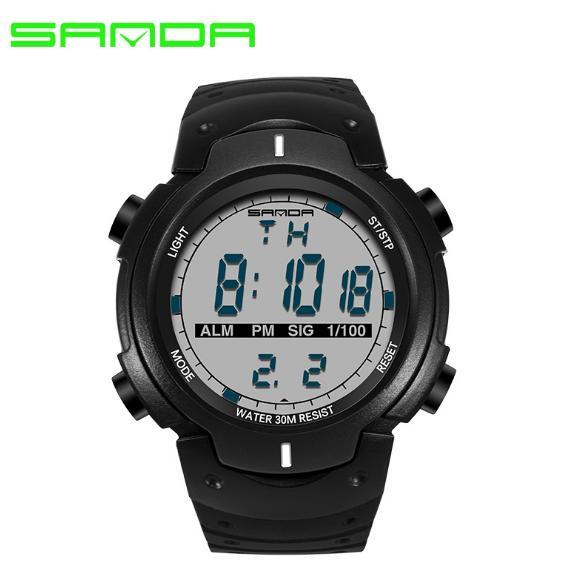 Brand sanda Watch men electronic watch student male table teen casual luminous movement