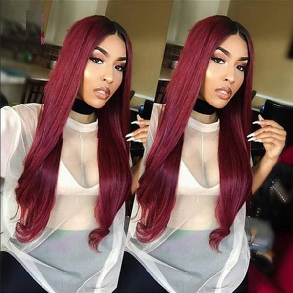 8A Brazilian Burgundy Straight Hair Cheap Pure Color #99J Virgin Hair Silky Straight Weaves 3Bundles Wine Red Human Hair Extensions 4pcs lot