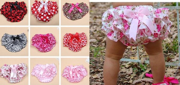 best selling Lovely Baby Infant satin PP Pettiskirt Pants boxers Toddler Bloomers Ruffle Briefs 10colors S.M .L 0-3Y gift